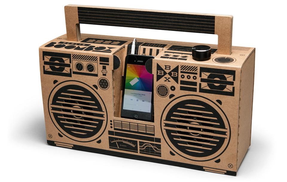 Berlin Boombox Braun - 100% recycelte Pappe
