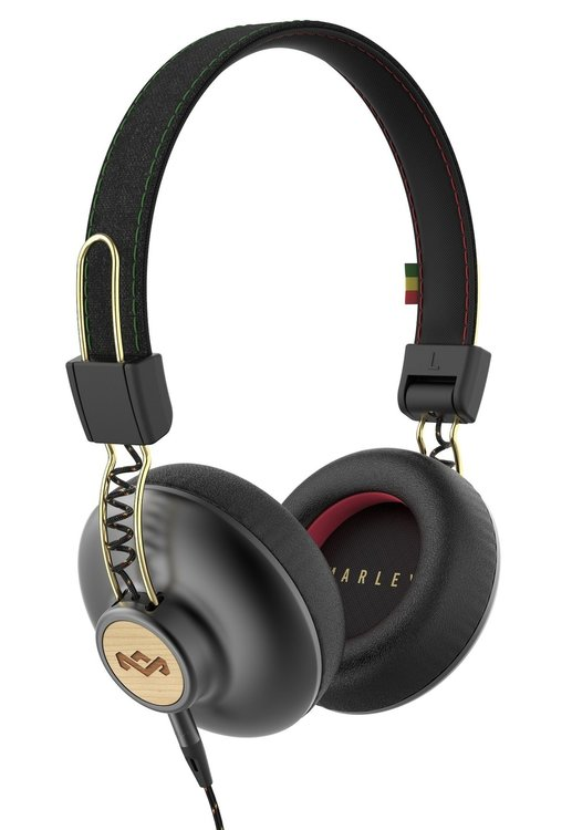 Marley Positive Vibration 2.0 On-Ear Kopfhörer mit 1-Button Remote/Mic - Rasta