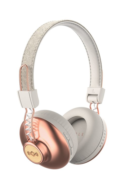 Marley Positive Vibration 2.0 BT Bluetooth On-Ear Kopfhörer mit 1-Button Remote/Mic - Copper