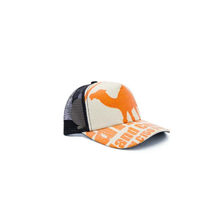 RECYCLING CAP - Orange Camel 2