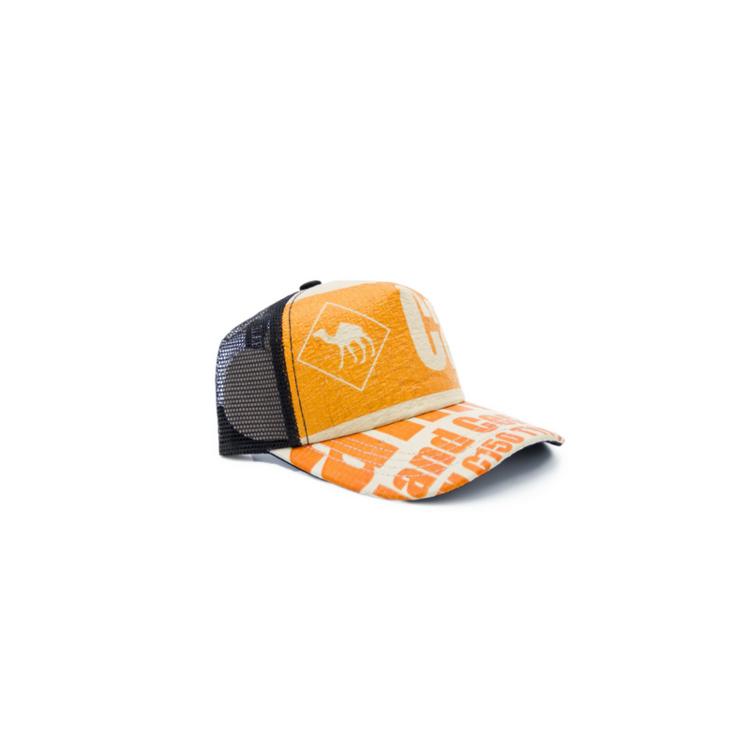 Recycling Cap - Orange Camel 3