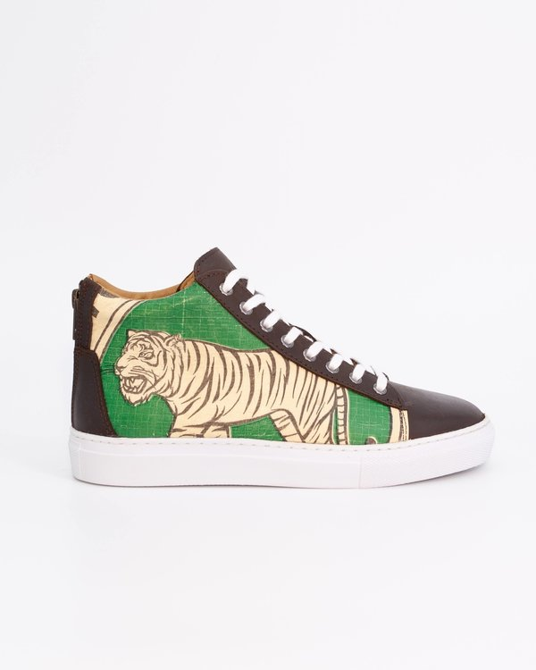 Recycling Sneaker High - Green Tiger