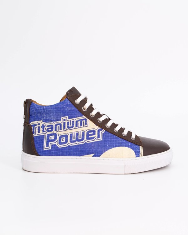 Recycling Sneaker High - Blue Diamond