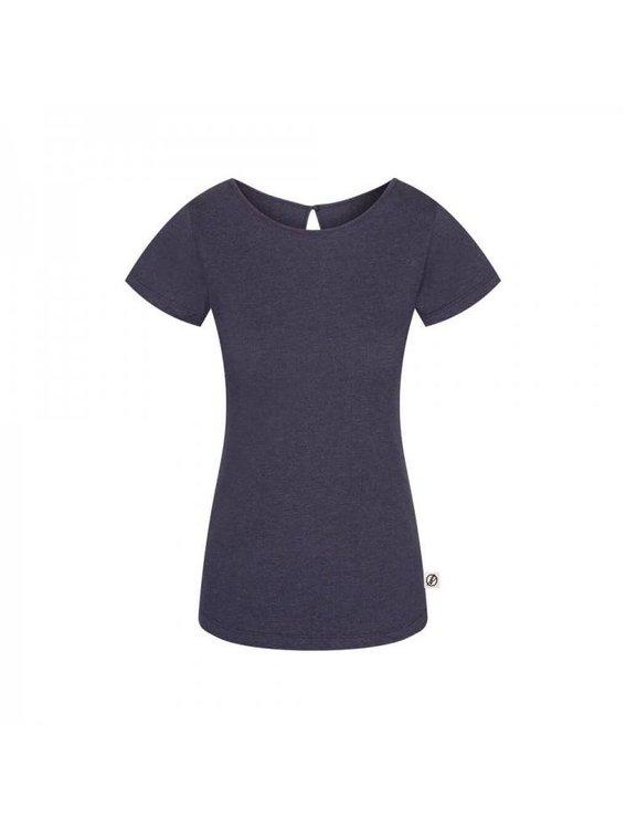 Bleed Jacquard T-Shirt Damen Dunkelblau