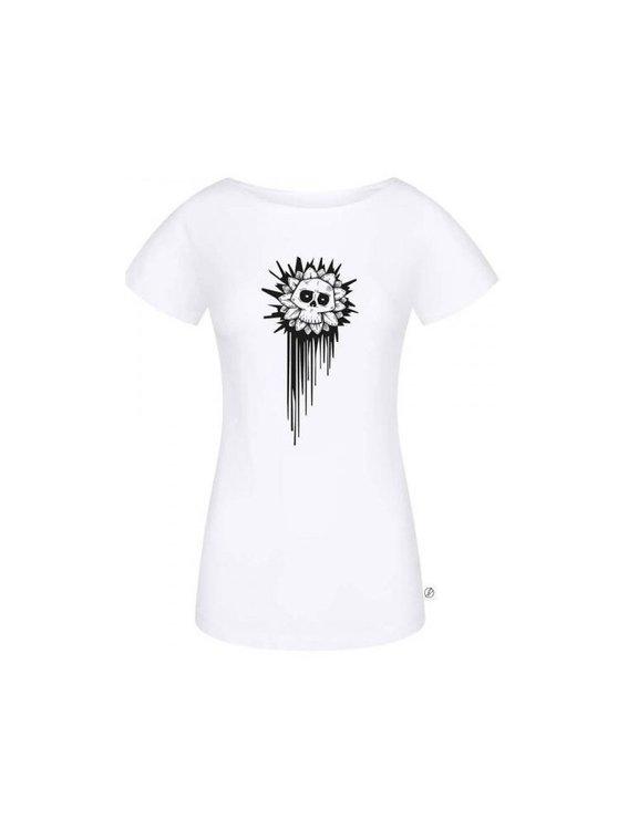 Bleed Skullflower T-Shirt Damen Weiss