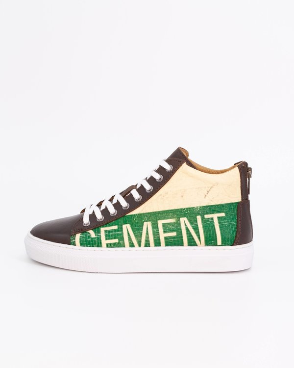 Recycling Sneaker High - Green Cement
