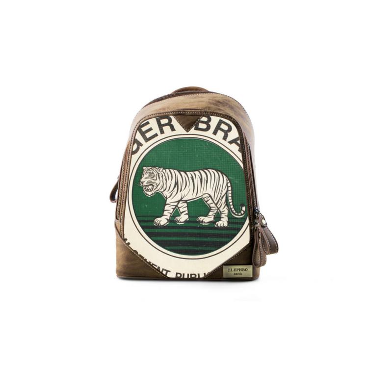 Recycling Rucksack Klein - Green Tiger