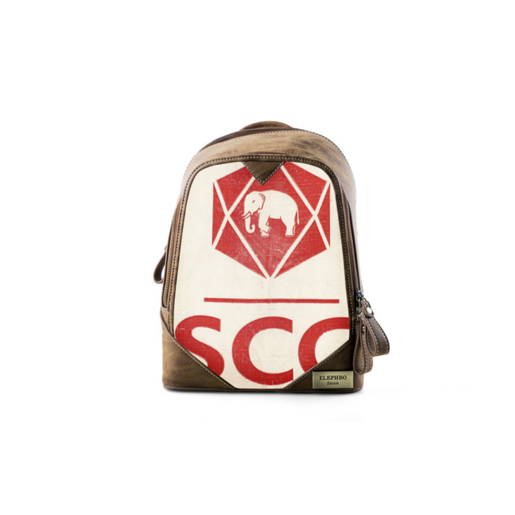 Recycling Rucksack Klein - Red Elephant
