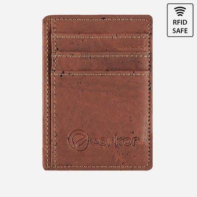 Kork Karten-Portemonnaie mit Sichtfenster Rot