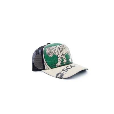 RECYCLING CAP - Green Tiger